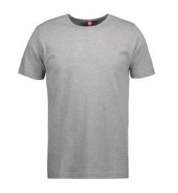 ID Kortærmet interlock T-shirt i blød antipillingkvalitet herre grå melange