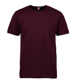 ID Kortærmet interlock T-shirt i blød antipillingkvalitet herre mørk bordeaux