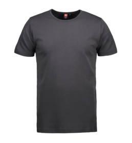 ID Kortærmet interlock T-shirt i blød antipillingkvalitet herre koks grå