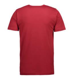 ID Kortærmet interlock T-shirt i blød antipillingkvalitet herre rød
