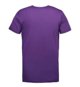 ID Kortærmet interlock T-shirt i blød antipillingkvalitet herre lilla
