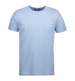 ID Kortærmet interlock T-shirt i blød antipillingkvalitet herre lys blå