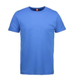 ID Kortærmet interlock T-shirt i blød antipillingkvalitet herre azur
