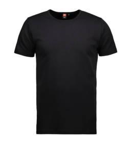ID Kortærmet interlock T-shirt i blød antipillingkvalitet herre sort