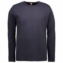Interlock T-shirt med lange ærmer i blød antipillingkvalitet herre navy