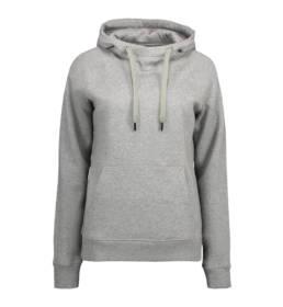 ID hoodie dame grå melange