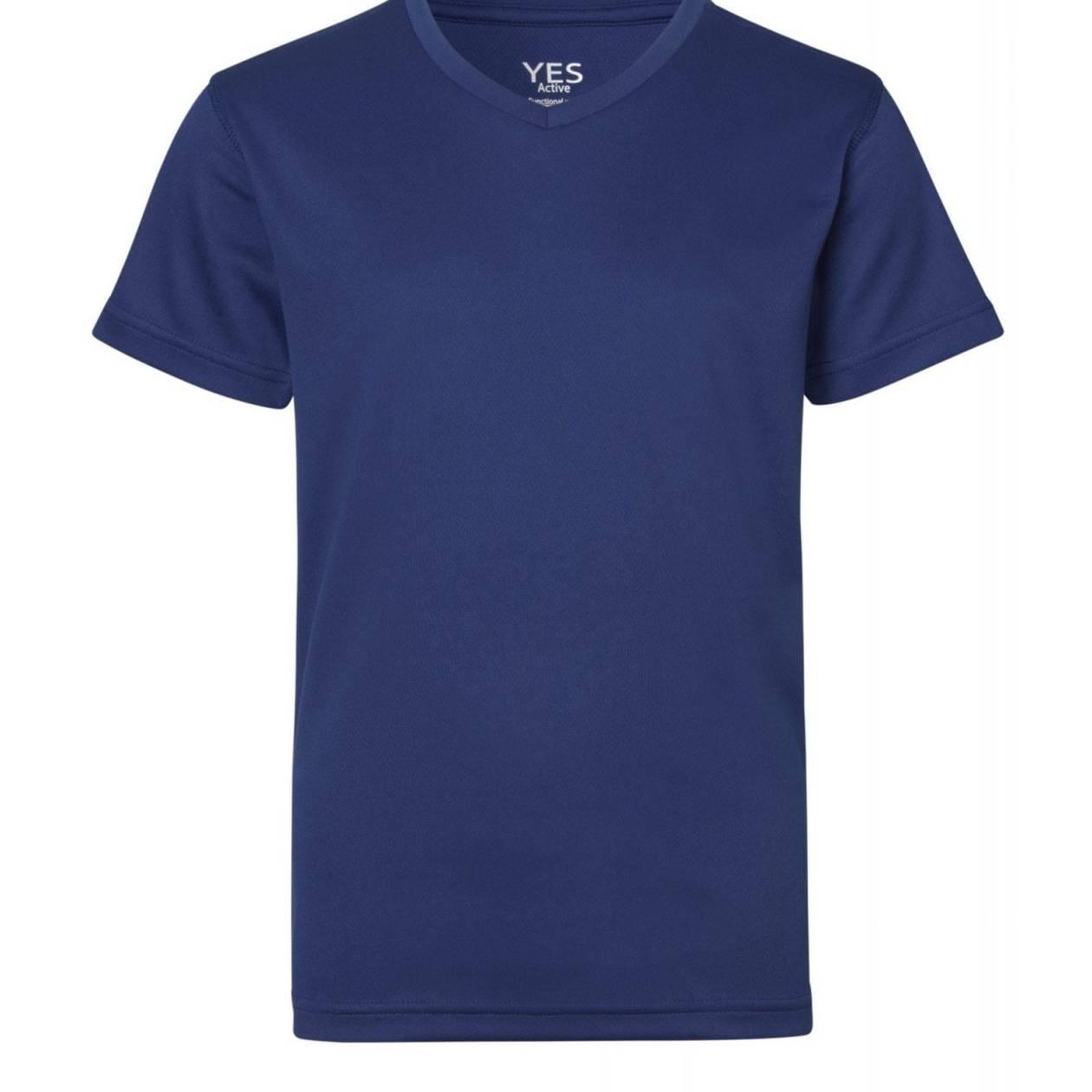 ID Funktionel T-shirt Svedtransporterende, åndbar og hurtigttørrende til børn kongeblå
