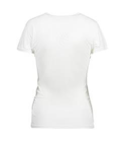 ID Kortærmet T-shirt i tyndt svedtransporterende mikrofibermateriale T-shirten er figursyet og sidder derfor tæt til kroppen dame hvid