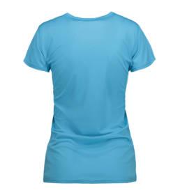 ID Kortærmet T-shirt i tyndt svedtransporterende mikrofibermateriale T-shirten er figursyet og sidder derfor tæt til kroppen dame aqua