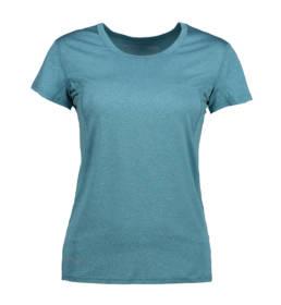 ID Kortærmet T-shirt i tyndt svedtransporterende mikrofibermateriale T-shirten er figursyet og sidder derfor tæt til kroppen dame petrol melange