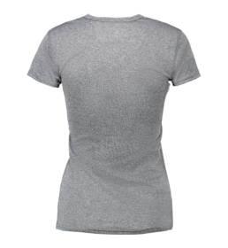 ID Kortærmet T-shirt i tyndt svedtransporterende mikrofibermateriale T-shirten er figursyet og sidder derfor tæt til kroppen grå melange dame