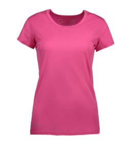 ID Kortærmet T-shirt i tyndt svedtransporterende mikrofibermateriale T-shirten er figursyet og sidder derfor tæt til kroppen pink dame