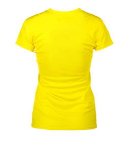 ID Kortærmet T-shirt i tyndt svedtransporterende mikrofibermateriale T-shirten er figursyet og sidder derfor tæt til kroppen dame gul