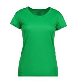 ID Kortærmet T-shirt i tyndt svedtransporterende mikrofibermateriale T-shirten er figursyet og sidder derfor tæt til kroppen dame grøn