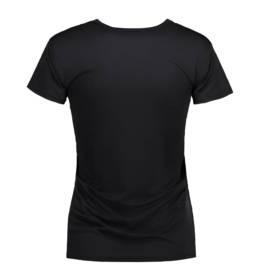 ID Kortærmet T-shirt i tyndt svedtransporterende mikrofibermateriale T-shirten er figursyet og sidder derfor tæt til kroppen dame sort