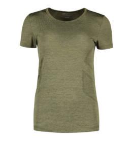 ID Geyser seamless Performance T-shirt dame oliven melange