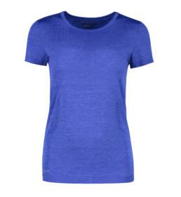 ID Geyser seamless Performance T-shirt dame kongeblå melange