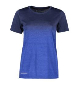 ID Geyser seamless Stribet T-shirt dame blå
