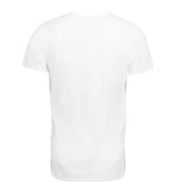ID Kortærmet T-shirt i tyndt svedtransporterende mikrofibermateriale T-shirten er figursyet og sidder derfor tæt til kroppen herre hvid