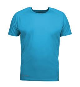 ID Kortærmet T-shirt i tyndt svedtransporterende mikrofibermateriale T-shirten er figursyet og sidder derfor tæt til kroppen herre aqua