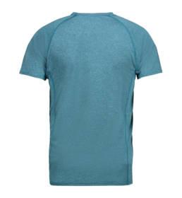 ID Kortærmet T-shirt i tyndt svedtransporterende mikrofibermateriale T-shirten er figursyet og sidder derfor tæt til kroppen herre petrol melange