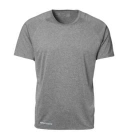 ID Kortærmet T-shirt i tyndt svedtransporterende mikrofibermateriale T-shirten er figursyet og sidder derfor tæt til kroppen herre grå melange