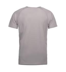 ID Kortærmet T-shirt i tyndt svedtransporterende mikrofibermateriale T-shirten er figursyet og sidder derfor tæt til kroppen herre grå