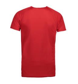 ID Kortærmet T-shirt i tyndt svedtransporterende mikrofibermateriale T-shirten er figursyet og sidder derfor tæt til kroppen herre rød