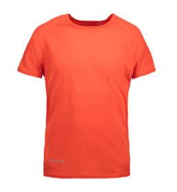 ID Kortærmet T-shirt i tyndt svedtransporterende mikrofibermateriale T-shirten er figursyet og sidder derfor tæt til kroppen herre orange