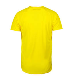 ID Kortærmet T-shirt i tyndt svedtransporterende mikrofibermateriale T-shirten er figursyet og sidder derfor tæt til kroppen herre gul