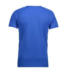 ID Kortærmet T-shirt i tyndt svedtransporterende mikrofibermateriale T-shirten er figursyet og sidder derfor tæt til kroppen herre kongeblå