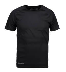 ID Kortærmet T-shirt i tyndt svedtransporterende mikrofibermateriale T-shirten er figursyet og sidder derfor tæt til kroppen herre sort