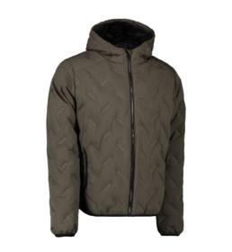 ID Geyser Smart og sporty jakke til hverdag eller aktiv fritid herre oliven melange