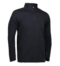 ID Geyser Langærmet og højhalset trøje svedtransporterende kvalitet herre sort