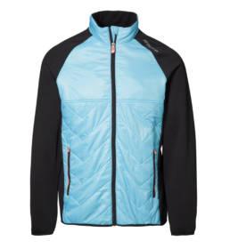 ID Eksklusiv letforet jakke i behagelig nylonkvalitet med kontrast i elastisk og flexibel metervare herre aqua