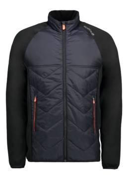 ID Eksklusiv letforet jakke i behagelig nylonkvalitet med kontrast i elastisk og flexibel metervare herre sort
