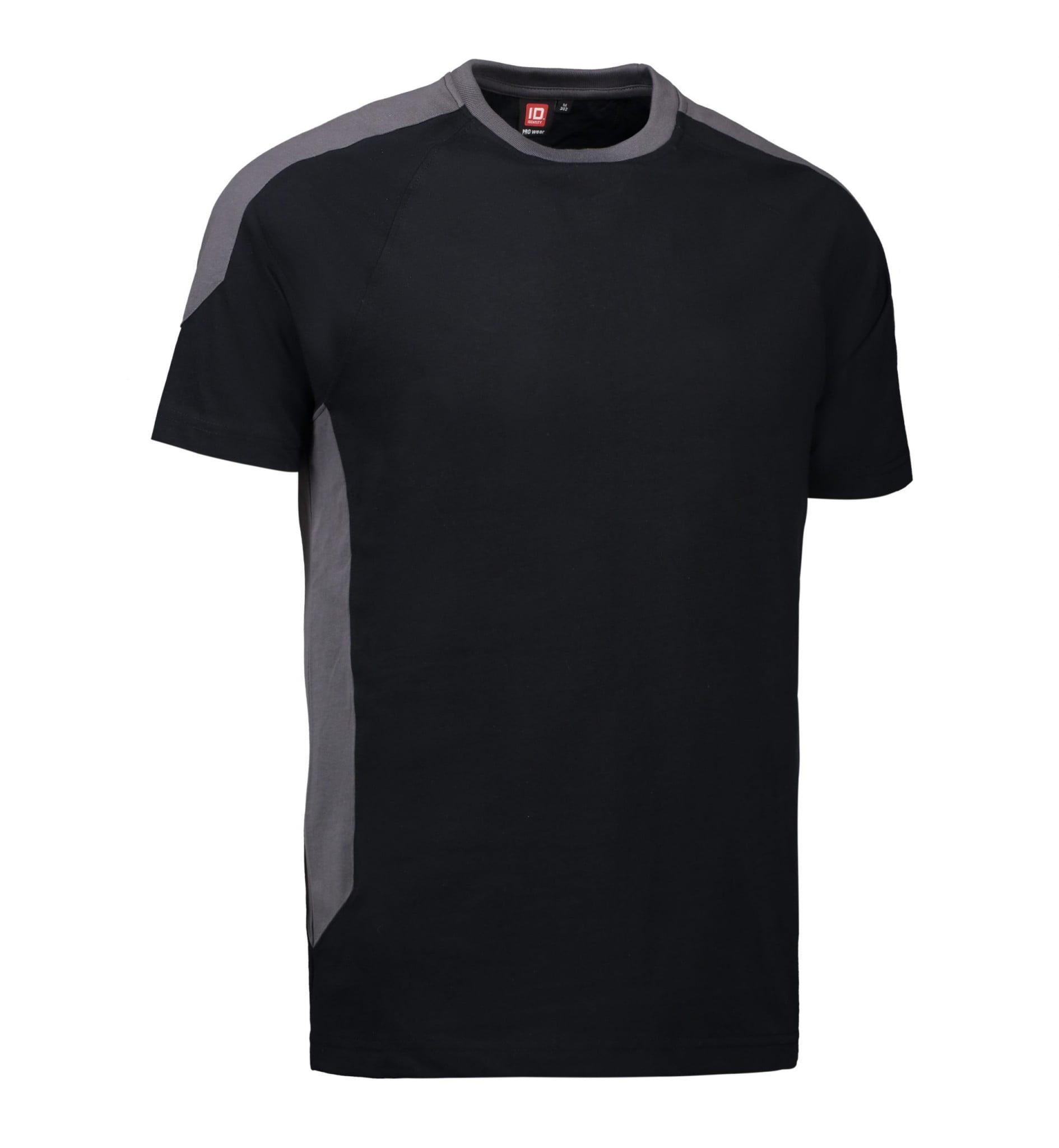 ID PRO Wear T-shirt kontrast herre sort