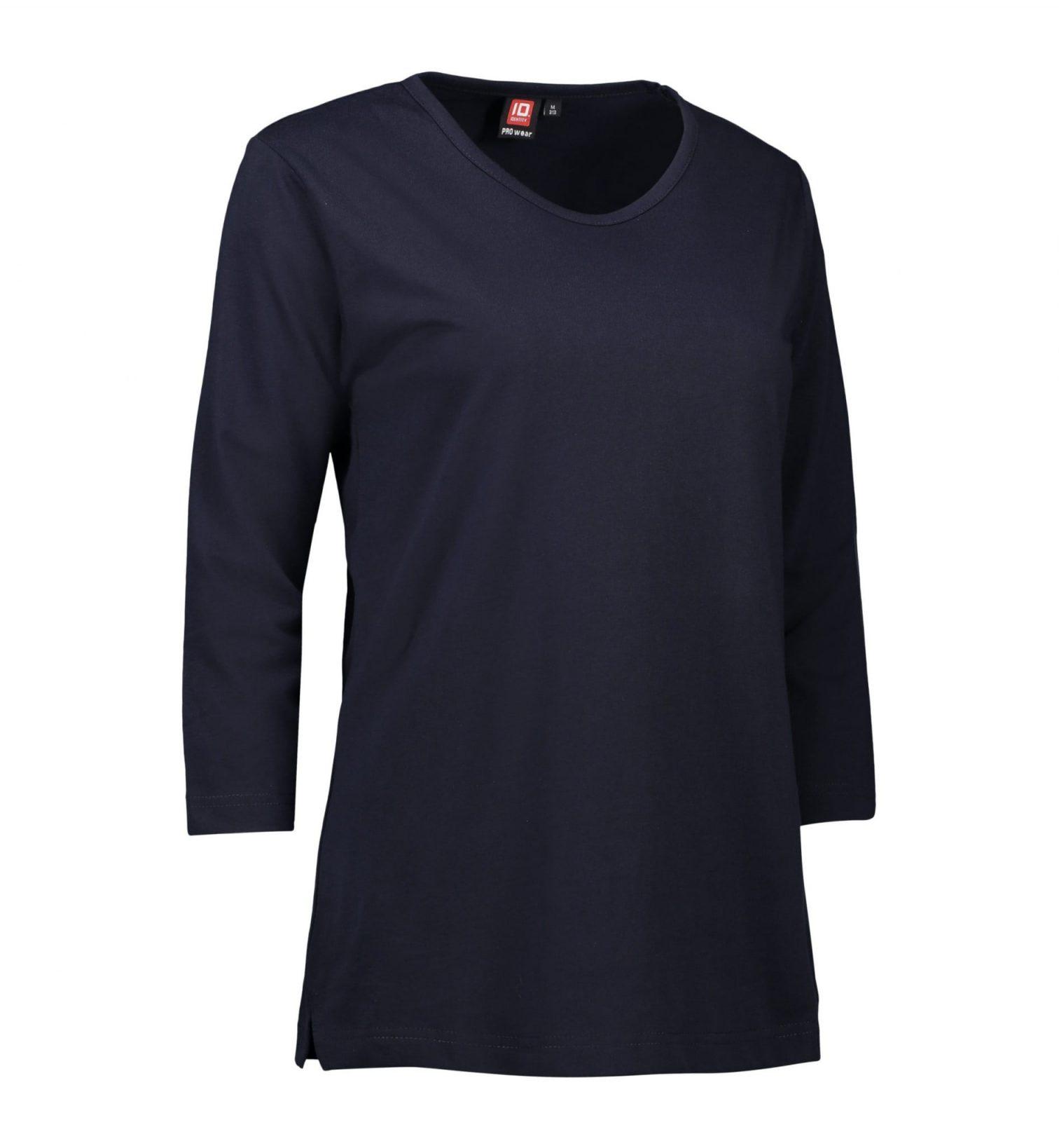 ID PRO Wear T-shirt 3/4-ærmet dame navy