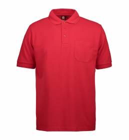ID PRO Wear slidstærk poloshirt m. lomme herre rød