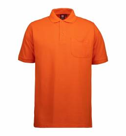 ID PRO Wear slidstærk poloshirt m. lomme herre orange