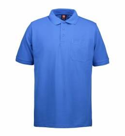 ID PRO Wear slidstærk poloshirt m. lomme herre azur blå
