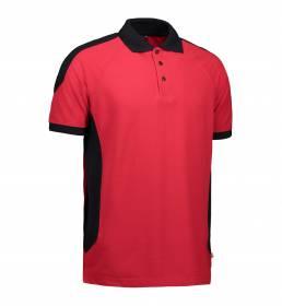ID PRO Wear Slidstærk to-farvet poloshirt unisex rød