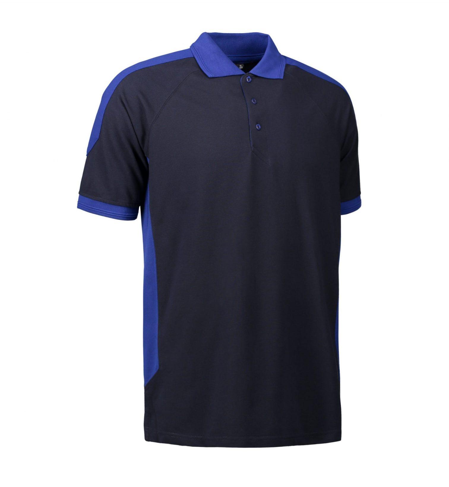 ID PRO Wear Slidstærk to-farvet poloshirt unisex navy