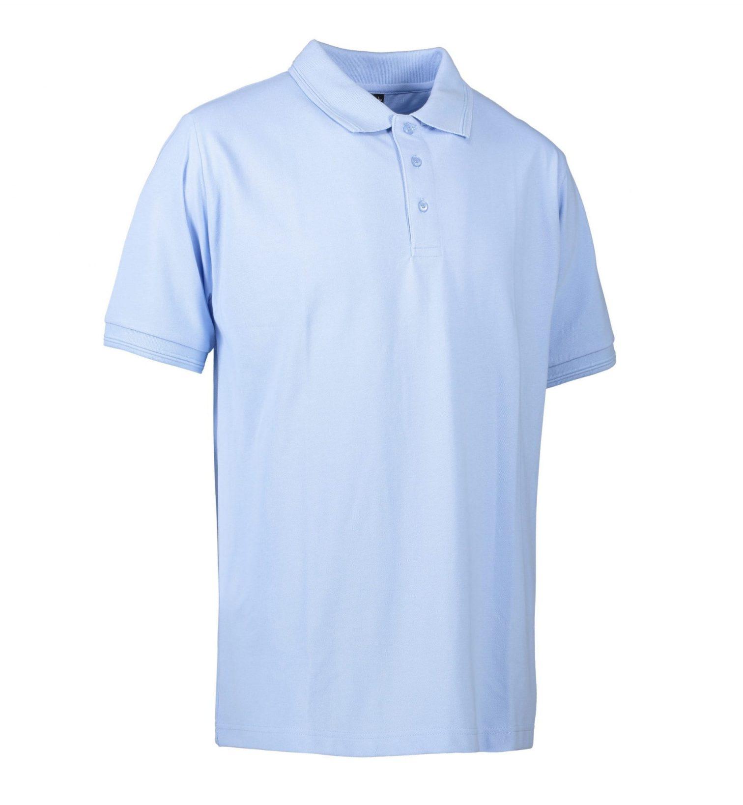 ID PRO Wear poloshirt uden lomme herre lys blå