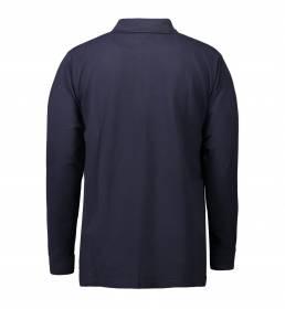 ID PRO Wear Slidstærk poloshirt med lange ærmer og brystlomme herre navy