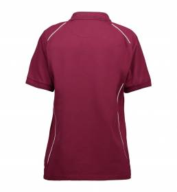 ID PRO Wear poloshirt piping dame bordeaux