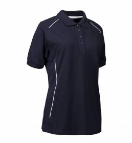 ID PRO Wear poloshirt piping dame navy