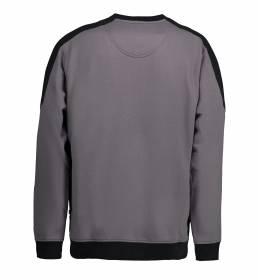 ID Ekstra slidstærk to-farvet sweatshirt med rund hals grå