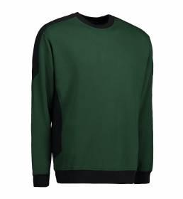 ID Ekstra slidstærk to-farvet sweatshirt med rund hals grøn