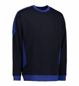 ID Ekstra slidstærk to-farvet sweatshirt med rund hals blå